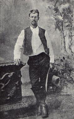 "vintagecowboy: "" A southwest Texas cowboy, in a photographer's studio, 1883. """