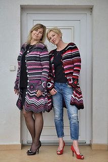 Brand new version of my design - crochet cardi Missoni Inspiration - at this time I made it in wonderful pure merino wool, in very soft and feminine colorway – for real curvy woman.