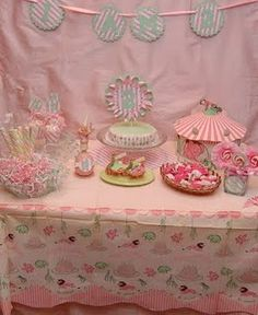 Girls Vintage Circus Party! Love this...should mingle in nicely w/ the shabby chic party style, we have planned for Caroline's 2nd bday celebration in our back yard...