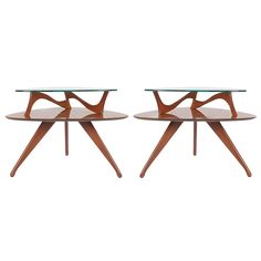 Sculptural Mid-Century Modern End Tables after Vladimir Kagan or Adrian Pearsall
