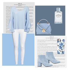 """""""#ootd"""" by monique-joanne ❤ liked on Polyvore featuring Dondup, Stuart Weitzman, Casetify, Mark Cross and Prada"""