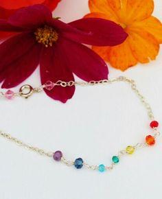 Chakra bracelet / chakra armbånd with 7 chakra colours free shipping www.annweidesign.com