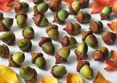 fondant acorns...