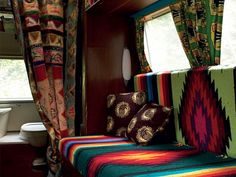 love the mix of southwest blankets with other fun prints