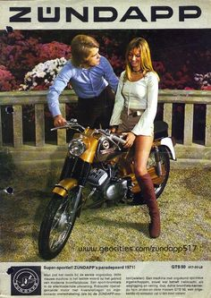 ZÜNDAPP girl with patronising bloke