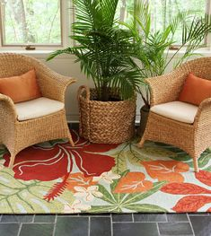 Navigate towards a fresh new approach to indoor-outdoor rugs with our tropical inspired Indoor-Outdoor Rug Collection with the Surf Spray Luau Area rug.