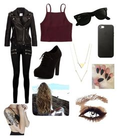 """""""Bad girl"""" by xxashleyxxxx on Polyvore featuring Paige Denim, Anine Bing, Aéropostale, New Look and Ray-Ban"""