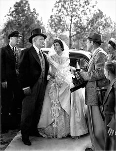Another wedding dress by Hollywood costume designer Helen Rose - this time for the original Father of the Bride.