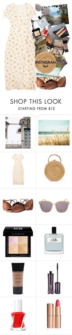 """""""Me, My Selfie, And I"""" by rachael-aislynn ❤ liked on Polyvore featuring Martha Stewart, Madewell, Free People, Topshop, Sephora Collection, Givenchy, Olfactive Studio, Smashbox, tarte and Essie"""