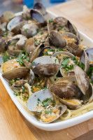 Clams and Linguini – SF Cooking School Blog