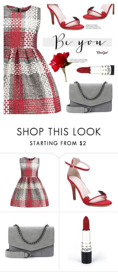 """""""Valentines day"""" by meyli-meyli ❤ liked on Polyvore featuring love, dress, reddress, valentinesday and rosegal"""