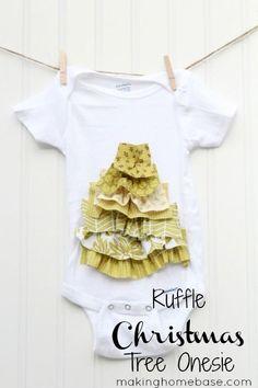 Ruffle Tree Fabric Onesie
