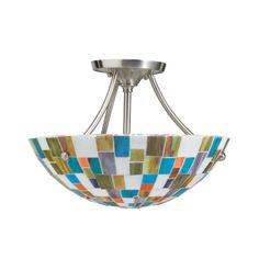 Kichler Lighting 65215 2 Light Confetti SemiFlush Semi Flush Ceiling Light, Brushed Nickel - Lighting Universe