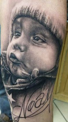 portrait tattoo Florian Karg: Baby boy p - portrait Tattoos For Baby Boy, Daddy Tattoos, Father Tattoos, Tattoo For Son, Family Tattoos, Tattoos For Daughters, Life Tattoos, Body Art Tattoos, Tattoos For Guys