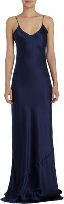 Navy Silk Evening Dress by Nili Lotan. Buy for $495 from Barneys New York