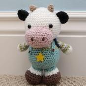 Amigurumi Pattern - Clarence Cow - via @Craftsy