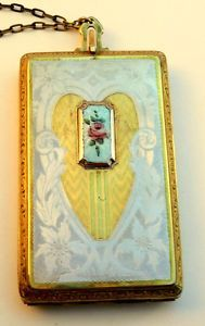 ART DECO Enamel Vanity Compact