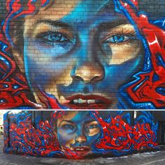 """Cool colab with @_bailer in Fitzroy, Melbourne ...referencing awesome photography by @snapshotbam thanks for the pic brother!! #adnate #montanagold…"""