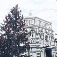Christmas Tree & Baptistery, Florence Italy // @allafiorentina