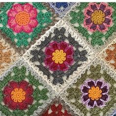 Transcendent Crochet a Solid Granny Square Ideas. Inconceivable Crochet a Solid Granny Square Ideas. Crochet Puff Flower, Crochet Flower Patterns, Crochet Stitches Patterns, Baby Knitting Patterns, Crochet Designs, Crochet Flowers, Granny Square Crochet Pattern, Crochet Squares, Crochet Motif