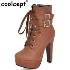 We love it and we know you also love it as well NEW Fashion Women Boots 2017 High Heels Ankle Boots Platform Shoes Brand Women Shoes Autumn Winter Botas Mujer Size 30-48 just only $28.71 - 31.98 with free shipping worldwide  #womenshoes Plese click on picture to see our special price for you