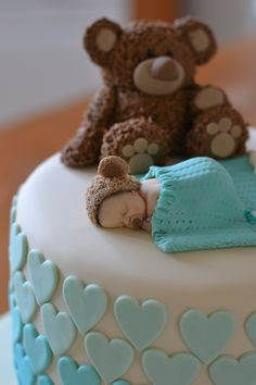 Teddy Baby Shower Cake