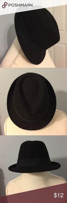 Angela & William Fedora Black fedora . 100% linen. Like new . angela & william  Accessories Hats