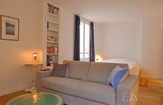 Light comfortable furnished Parisian studio apartment at Place du Marche Saint Honore