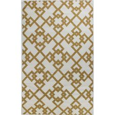 Found it at Wayfair - Rockport Ivory/Gold Area Rug