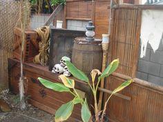 tiki / pirate / indiana jones backyard -- Tiki Central Indiana Jones Halloween, Indiana Jones Birthday Party, Halloween 2020, Backyard Beach, Tropical Backyard, Tiki Party, Tiki Hut, Backyard Projects, Backyard Ideas