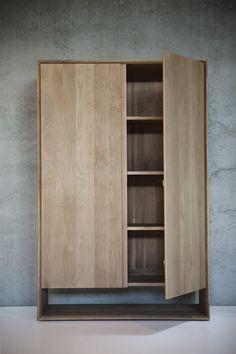 Oak Nordic storage cupboard