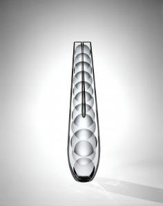 """Pavel Hlava """"Single Bloom"""" Vase with Lens-Shaped Cuts Corning Museum Of Glass, Z Arts, Modern Glass, Pavlova, Glass Collection, Art And Architecture, Czech Glass, Decorative Bowls, Glass Art"""