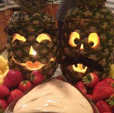 Pineapples Make Awesome Alternative Jack O' Lanterns