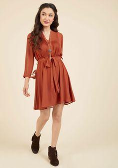 Thesis Just the Beginning Shirt Dress in Pumpkin.  $17.99
