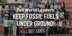 We need a climate deal that's in line with the imperatives of science and justice. Keep at least 80% of fossil fuels in the ground and finance a just transition to 100% renewable energy by 2050.