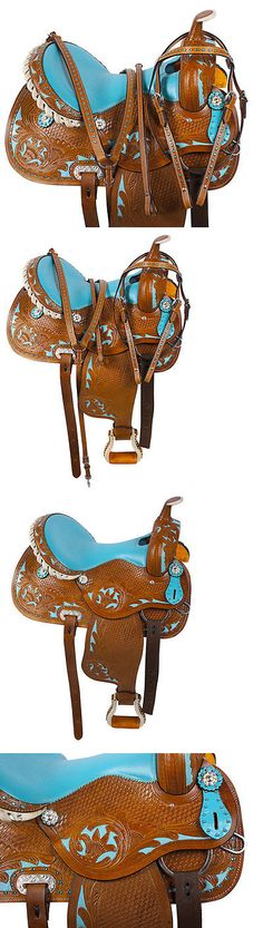 Saddles 47291: New 14 15 16 Blue Western Barrel Racing Pleasure Trail Horse Saddle Tack Set -> BUY IT NOW ONLY: $284.99 on eBay!
