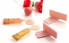 "A candy lip gross ""sweet lip"" by Ameyaeitaro - apple, grape, yuzu, etc."