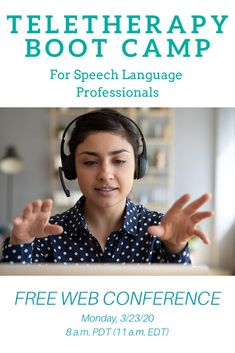 Speech-Language Professionals! Join us for this FREE web conference and get up to 7 hours of teletherapy training. Stay for the full time, or hop on and off to train in the areas where you need some help. ASHA reporting available for a small fee.