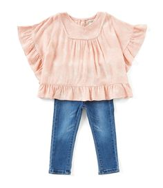 9d8bc1970 Shop for Jessica Simpson Baby Girls 12-24 Months Printed Ruffle-Trim Top  &