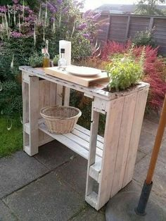 Balkontisch aus paletten  Bauanleitung: Garten-Bar aus Europaletten | Pallet furniture ideas ...