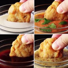 awesome Chicken Nuggets with 4 Sauces – skip the drive-thru and make your own nuggets, complete with new spins on classic dips. : tastemade Read More by I Love Food, Good Food, Yummy Food, Homemade Chicken Nuggets, Snacks, Food Hacks, Tapas, Food To Make, Cooking Recipes
