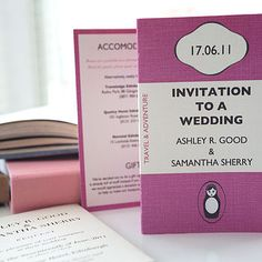 vintage book inspired wedding invitation by e.y.i.love | notonthehighstreet.com