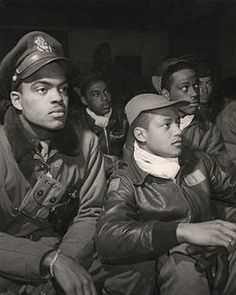 african americans in 1930's | The 332nd Fighter Group attends a briefing in Italy in 1945.