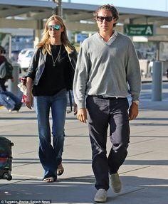 Sun-kissed: Heidi Klum and her boyfriend Vito Schnabel showed off their matching tans as t...