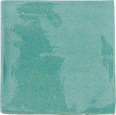 £1.04 13x13cm- Topps Tiles Provenza Craquele Verde Oceano