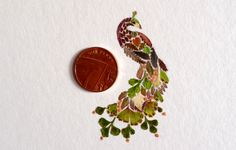 Helen Ahpornsiri - Pressed Ferns Transform into Intricate Animal Illustrations
