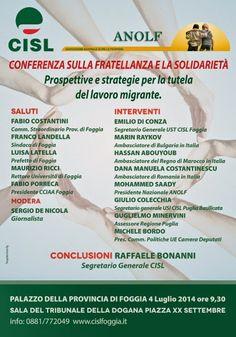 notizie lucane, basilicata news: Tutela del lavoro migrante,  il 4 luglio a Foggia
