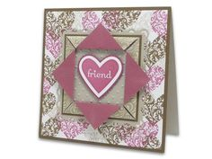 Folded Paper Frame by Vera - Cards and Paper Crafts at Splitcoaststampers