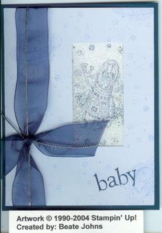 Baby? Baby???? using Stampin Up Out of This World retired stamp set