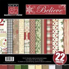 Bazzill Basics - Margie Romney-Aslett - Believe Collection - Christmas - 12 x 12 Assortment Pack at Scrapbook.com $19.99